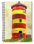 Pilsum Lighthouse Leuchtturm  Spiral Notebook