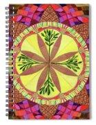 Pine Cone Mandala Spiral Notebook