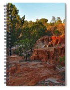 Pine Trees On Red Cliffs Spiral Notebook