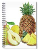 Pineapple Pear Watercolor Food Illustration  Spiral Notebook