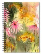 Pink And Gold Spiral Notebook