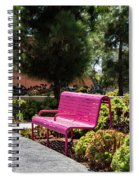 Pink Chairs At Grand Park Spiral Notebook