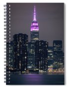 Pink Empire State Building Spiral Notebook