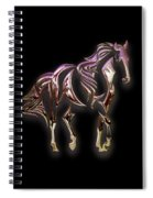 Purple Horse Spiral Notebook