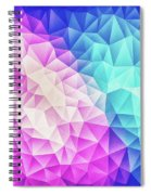 Pink Ice Blue  Abstract Polygon Crystal Cubism Low Poly Triangle Design Spiral Notebook