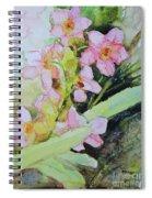 Pink Moth Orchids II Spiral Notebook