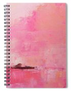 Pink Sky Abstract Spiral Notebook