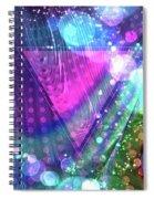 Pink Triangle Fractal Spiral Notebook