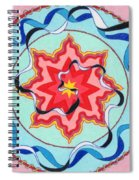Pink, Yellow, Red Sun. Spiral Notebook