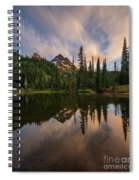 Pinnacle Peak Sunset Reflection Angles Spiral Notebook