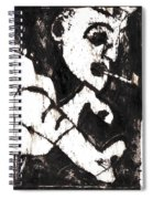 Pipe After Mikhail Larionov Black Oil Painting 4 Spiral Notebook