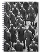 Pit 1 Of Terra Cotta Warriors In Black And White Spiral Notebook