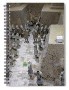 Pit 2 Of Terra Cotta Warriors, Xian, China Spiral Notebook