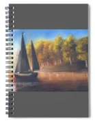 Plain Sailing, Boat Painting Spiral Notebook