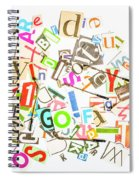 Play On Golf Words Spiral Notebook
