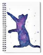Playful Galactic Cat Spiral Notebook