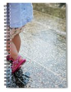Playing In The Rain Spiral Notebook