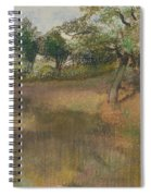 Ploughed Field Bordered By Trees Spiral Notebook