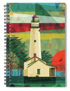 Point Aux Barques-michigan  Spiral Notebook