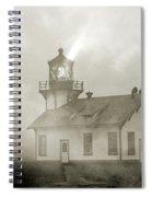 Point Cabrillo Lighthouse California Sepia Spiral Notebook