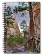 Ponderosa Pines In Slot Canyon Spiral Notebook