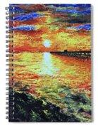 Pondicherry Beach Sunrise Spiral Notebook