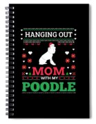 Poodle Ugly Christmas Sweater Xmas Gift Spiral Notebook