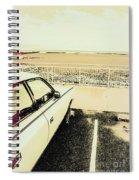 Pop Art Beach Carpark  Spiral Notebook