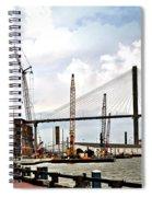 Port Of Savannah Crane Construction Spiral Notebook