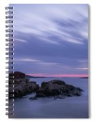 Portland Head Light At Twilight Pano Spiral Notebook