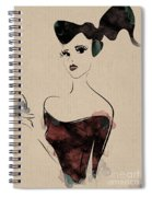 Portrait Of A Girl With Make Up Powder Spiral Notebook