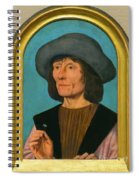 Portrait Of A Man With A Pink Spiral Notebook