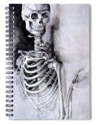 Portrait Of A Skeleton Spiral Notebook