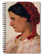 Portrait Of Angela B Cklin In Red Fishnet Spiral Notebook