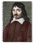 Portrait Of Descartes Spiral Notebook