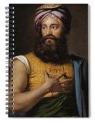 Portrait Of Giovanni Belzoni Spiral Notebook