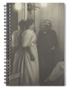 Portrait Of Henry Lerolle With Two Of His Daughters  Spiral Notebook