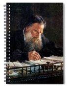 Portrait Of Leo Tolstoy Spiral Notebook