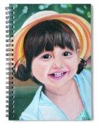 Portrait Of Little Girl. Spiral Notebook