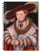 Portrait Of Magdalena Of Saxony, Wife Of Elector Koachim II Spiral Notebook
