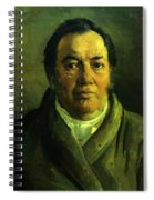 Portrait Of Nikolay O Ge Artist Father Spiral Notebook