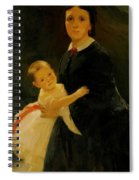 Portrait Of Shestova With Daughter Spiral Notebook