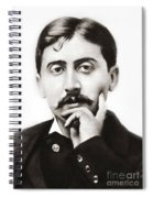 Portrait Of The French Author Marcel Proust Spiral Notebook