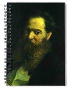 Portrait Of The Physiologist Moriz Schiff Spiral Notebook