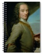 Portrait Of The Young Voltaire  Spiral Notebook