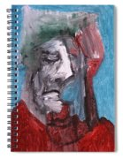 Portrait On Blue Spiral Notebook