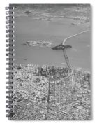 Portrait View Of Downtown San Francisco From Commertial Airplane Spiral Notebook