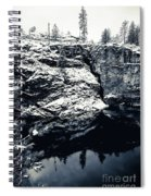 Post Falls Park In Snow  Spiral Notebook