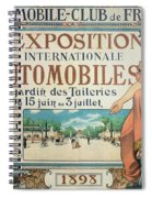 Poster Advertising The Exposition Internationale Automobiles At The Tuileries Gardens 1898 Spiral Notebook