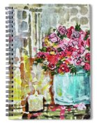 Potted Roses With Candle Spiral Notebook